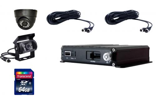Комплект видеонаблюдения для транспорта Carex MDVR-02 Standart